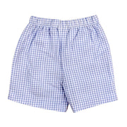 Light Blue Windowpane Seersucker-Boys Swimtrunk