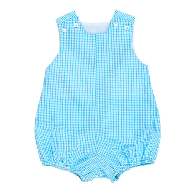 Aqua Check Seersucker-Infant Bubble