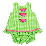 Watermelon-Angel Dress Tie Back with Bloomer