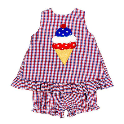 ICE CREAM CONE-ANGEL DRESS TIE W/BLOOMER