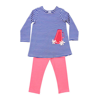 Football & Megaphone-Girls Tunic Pant Set