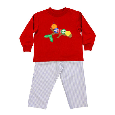 Wally Worm-Boys Pant Set