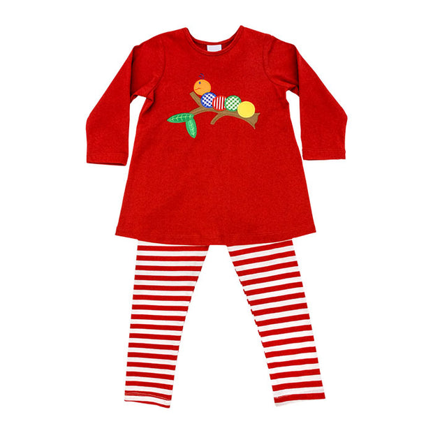 Wally Worm-Girls Tunic Pant Set