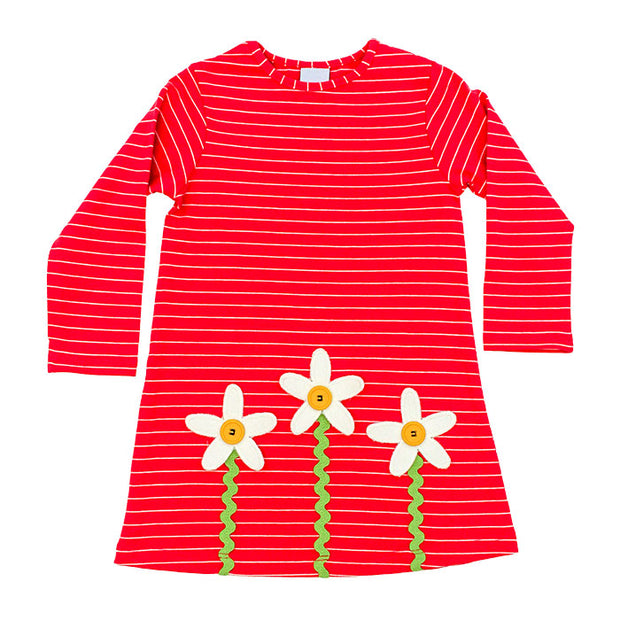 Flower-Knit Dress