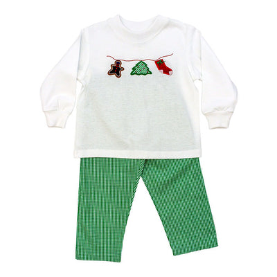 Christmas Clothesline-Boys Pant Set
