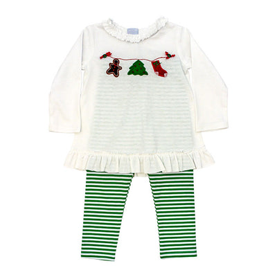 Christmas Clothesline-Tunic Pant Set