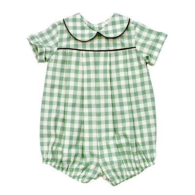 Sage Check-Dressy Bubble Short