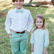 Johnny Bow Tie-Sage Green Check