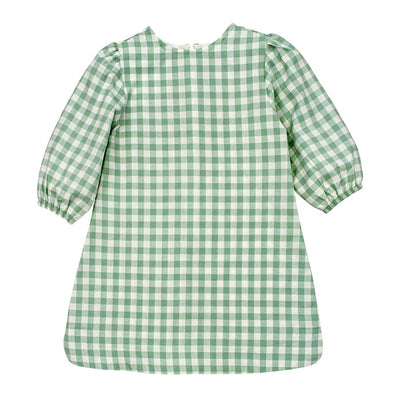Sage Check-Tunic Dress