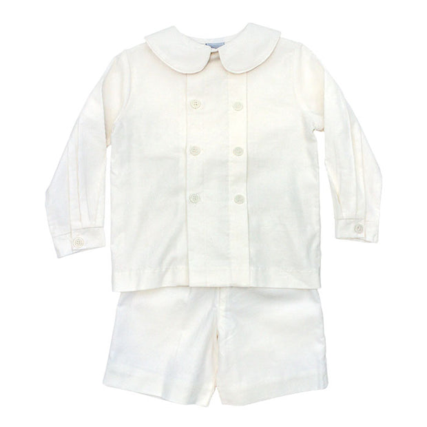 Winter White Corduroy-Dressy Short Set