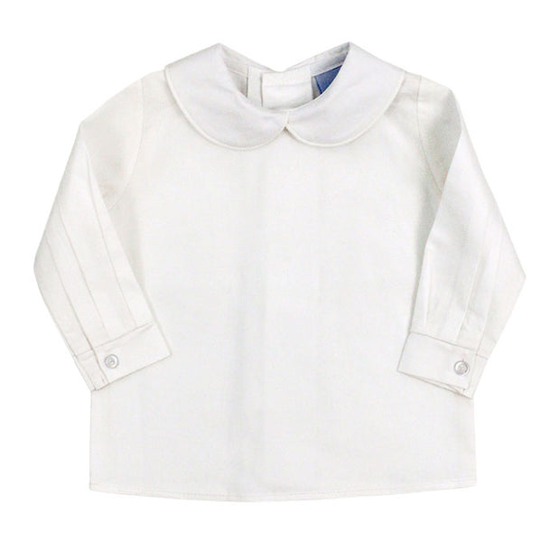 Cambridge Corduroy-Ivory Boys Piped Shirt