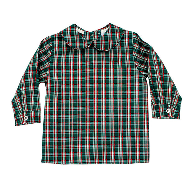 Holly Plaid-Boys Piped Shirt