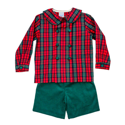 December Plaid-Dressy Short Set