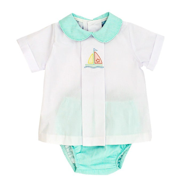 Sailboat Shadow Work-Diaper Cover Set