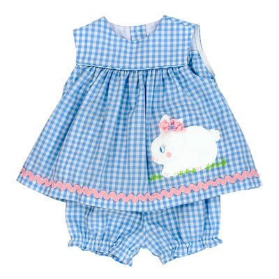 Hippity Hoppity-Float Dress with Bloomer