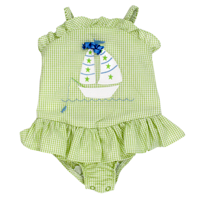 Sail Away- 1 PC Swim W/ Ruffle