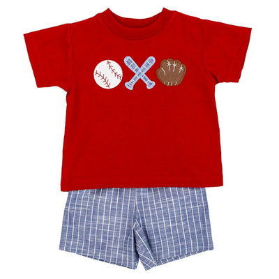 Baseball Trio-Boys Short Set