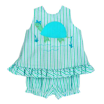 Tilly Turtle-Angel Dress Tie Back with Bloomer