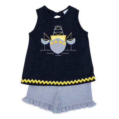 Shrimp Boat-Girls Short Set