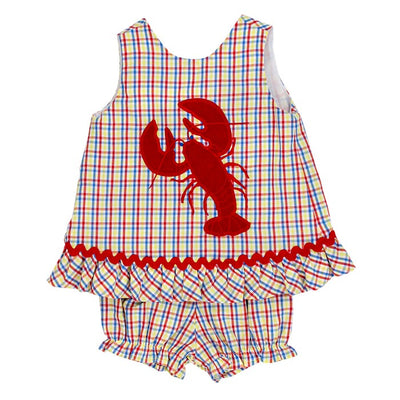 Lobster-Angel Dress Tie Back with Bloomer Set
