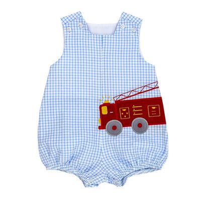 Firetruck-Short Infant Bubble