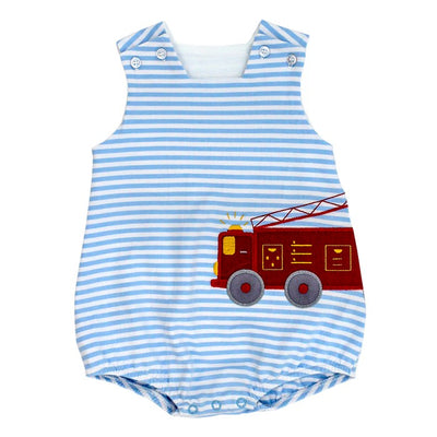 Firetruck-Knit Infant Bubble
