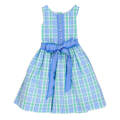 Watercolor Plaid-Jackie Dress