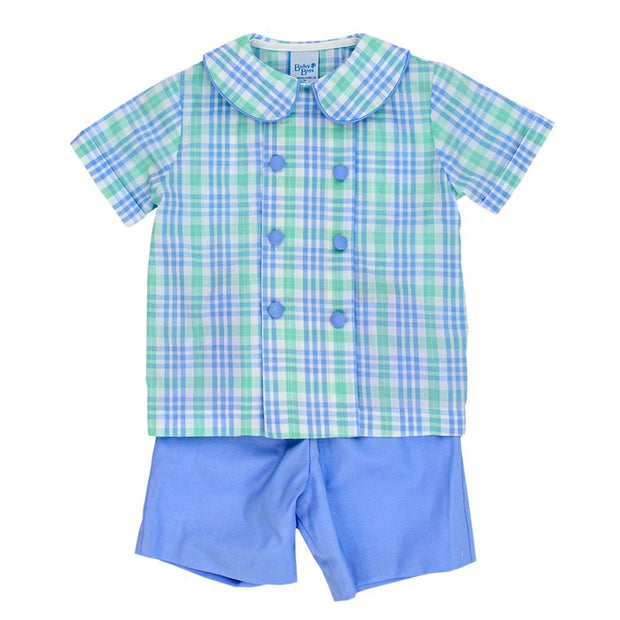 Watercolor Plaid-Dressy Short Set