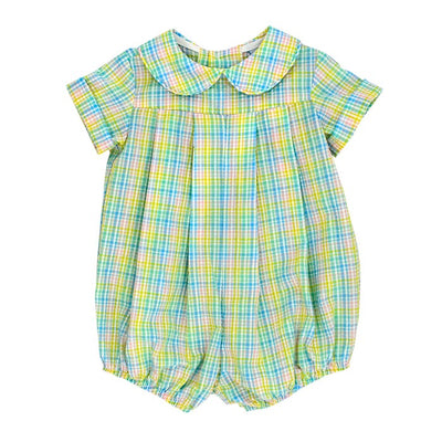 Preppy Plaid Seersucker-Dressy Bubble Short