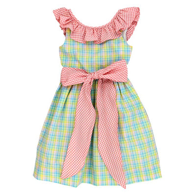 Preppy Plaid Seersucker-Jackie Dress