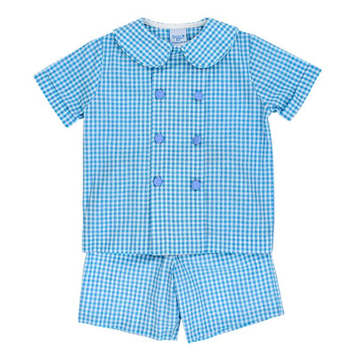 Coastal Gingham-Dressy Short Set