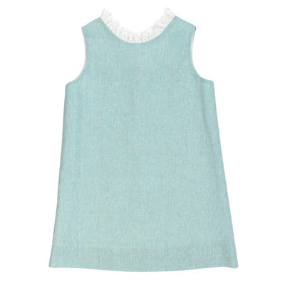 Seafoam Linen-Aline Dress