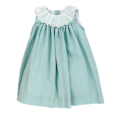 Seafoam Linen-Float Dress