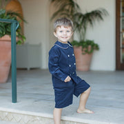 Navy Corduroy-Dressy Short Set