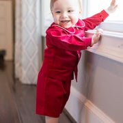 Red Corduroy-Dressy Short Set
