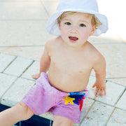White Polished Cotton Sunhat