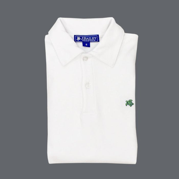 Henry Short Sleeve Polo-White