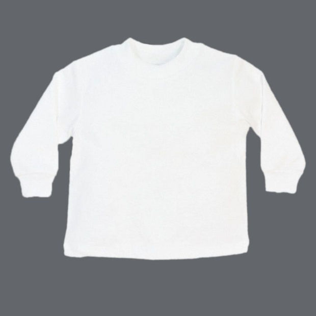 White Knit-Long Sleeve T-Shirt