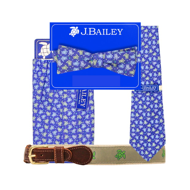 Johnny Bow Tie-Turtle Print