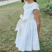 Winter White Corduroy-Empire Dress