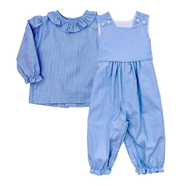 Light Blue Corduroy-Mae Romper