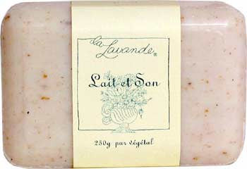 La Lavande Broyee Soap - Goat Milk and Bran Soap - 200gm