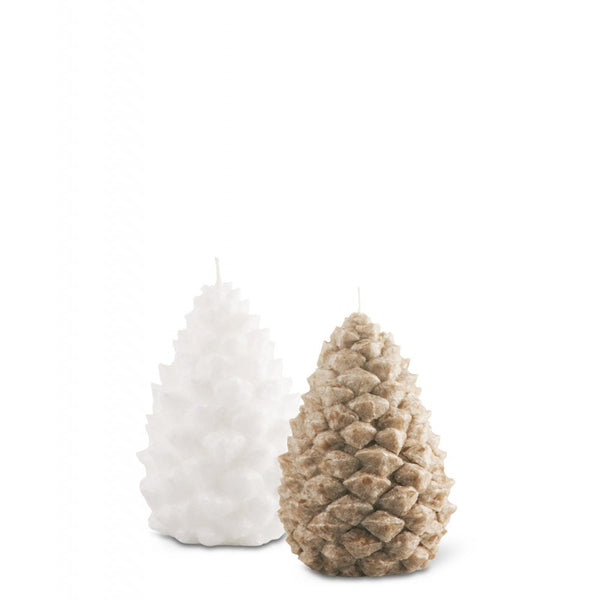 Bougies la Francaise Small Scented Pine Cone Candles - Beige and White