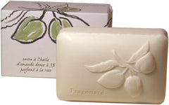 Fragonard Soap with Plant Oils - Sweet Almond Oil with Rose - Hampton Court Essential Luxuries
