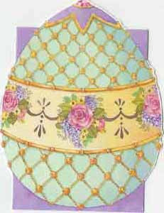 Easter Greeting Enclosure Card - Faberge Egg