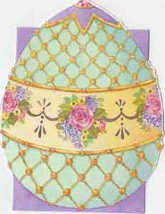 Easter Greeting Enclosure Card - Faberge Egg - Hampton Court Essential Luxuries