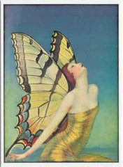 All Occasion Greeting Card - Gold Wrapped Butterfly by MT Benda 1920 - Hampton Court Essential Luxuries