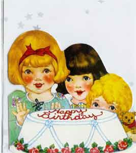 Birthday Greeting Card - Little Girls Birthday Party