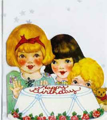 Birthday Greeting Card - Little Girls Birthday Party - Hampton Court Essential Luxuries