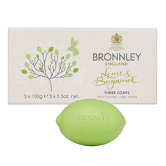 Bronnley Lime & Bergamot Soap - 3x100gm Hand Soap